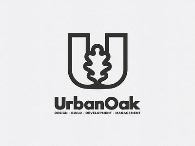 UrbanOak logo icon loog lgoo lgo loogtype lgoo lgo logotype leaf oak urban u logo symbol minimal logo identity dribbble best shot designer design branding brand best of dribbble best