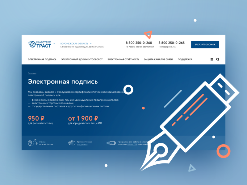 iitrust web site interface