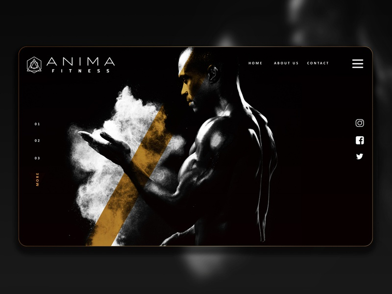 Anima Fitness landing page design inspiration minimal modern elegant strongman crossfit dark black website gym fitness sport uiux web design landing page ux design ui design ux ui