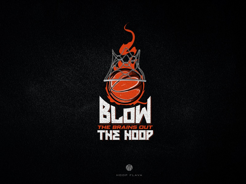 Blow The Brains Out The Hoop apparel fire illustration sport basketball tshirt design tshirt