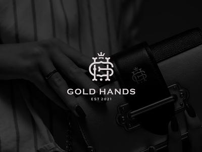 Gold Hands minimalist royal elegant logo rings jewelry h logo g logo logo design abbreviation luxury elegant branding design brand logotype logo
