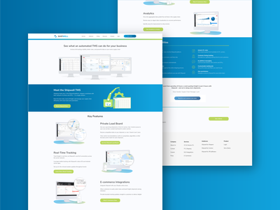 Shipwell Audience Web Page clean identity minimal website flat web typography branding vector ui design illustration