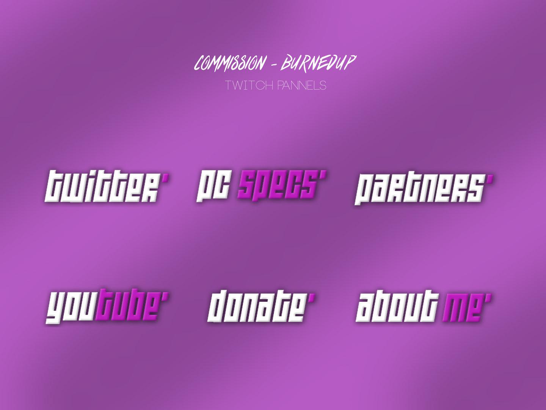 Twitch Graphics | Commission panels commission twitch graphic design design