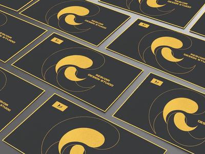 R logo business cards