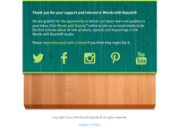 Cutting Board Email Footer