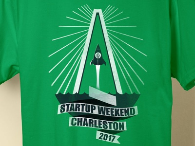 Startup Weekend T-Shirt (Close Crop) t-shirt startup weekend shirt sc rocket illustration charleston