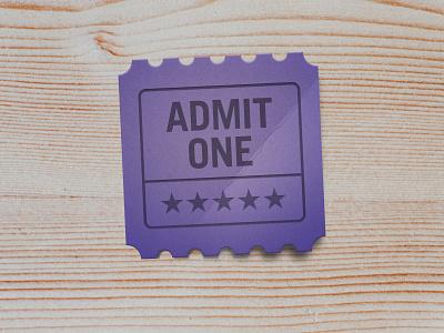 Admit One shadow texture admit one ticket