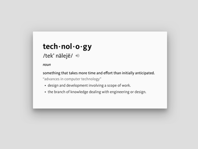 Technology kievit typogaphy card sketch definition