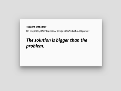 Thought of the Day, Friday, August 30, 2019 pm ux