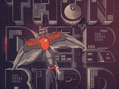 City Ride - Thunderbird typography flat illustration design vector t shirt art motorcycle moto illustration graphicdesign