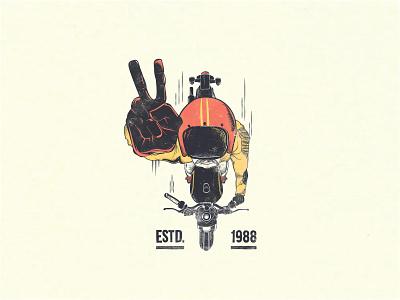 Hello Dribbble t shirt art graphicdesign moto motorcycle design illustration