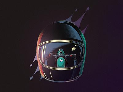 Night rider vector design moto t shirt art motorcycle illustration graphicdesign