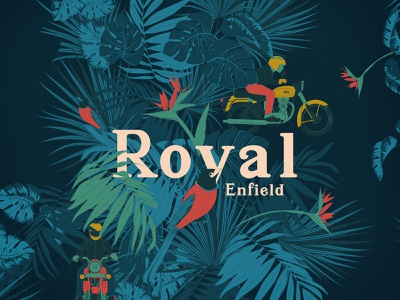 Tropical Ride moto design t shirt art motorcycle illustration graphicdesign