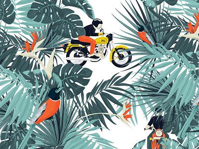 Tropical ride moto vector design t shirt art motorcycle illustration graphicdesign