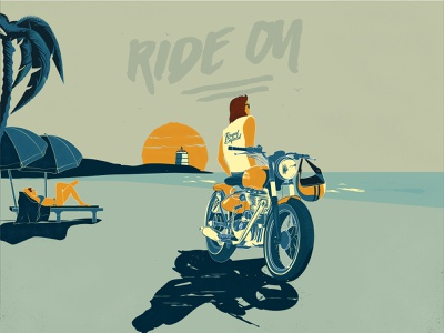 Moto Love flat illustration vector t shirt art motorcycle moto illustration graphicdesign