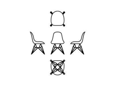 Eames Chair midcentury dwell dimensions drafting chair eames graphics design user interface ui icon