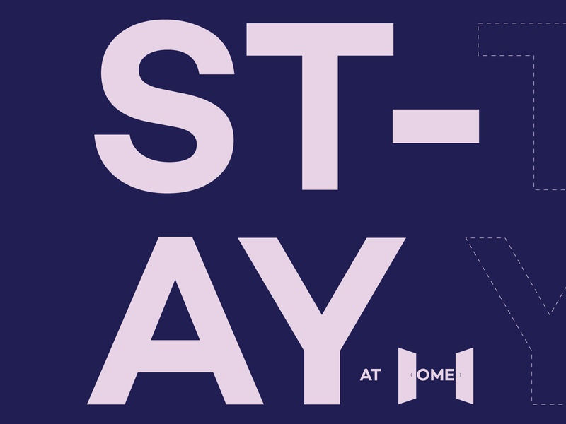 Stay at Home vector type typeface illustration branding design typography stay safe stayhome