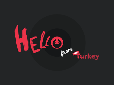 HELLo again from new Turkey turkey uvula mouth lettering character logotype typography font typeface type hello hell
