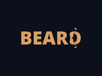 BearD hipster illustration typography typeface beard