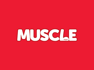 MUSC💪E typography typeface illustration logo strong power gym muscle