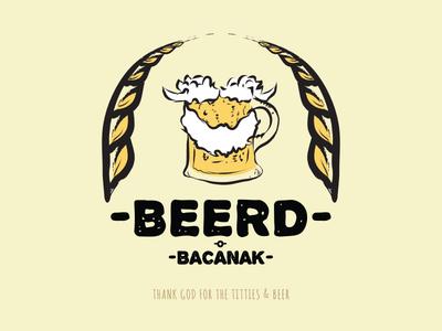 Beerd typography illustration hipster homemade drink branding beard beerd beer