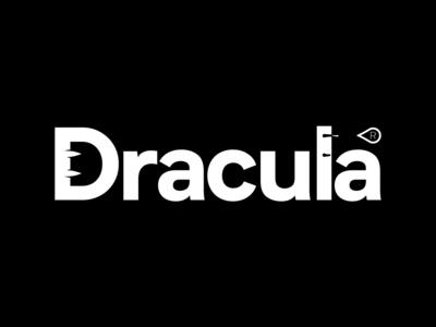 Dracula illustration branding type typeface typography vampire dracula
