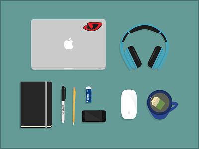Desk Essentials illustration