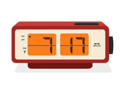 Bruno Alarm Clock illustration