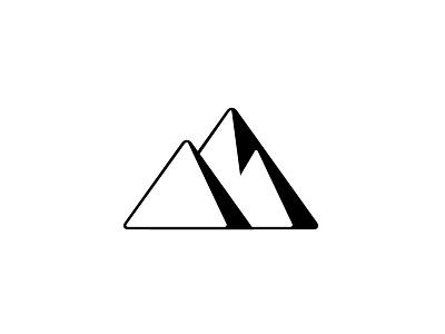 IF Personal Logo logo mountains monogram