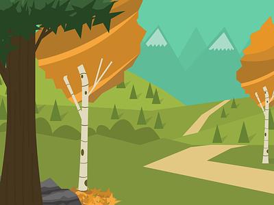 A Quiet Path illustration nature