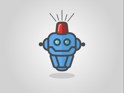 Pete patrol siren icon logo bot robot