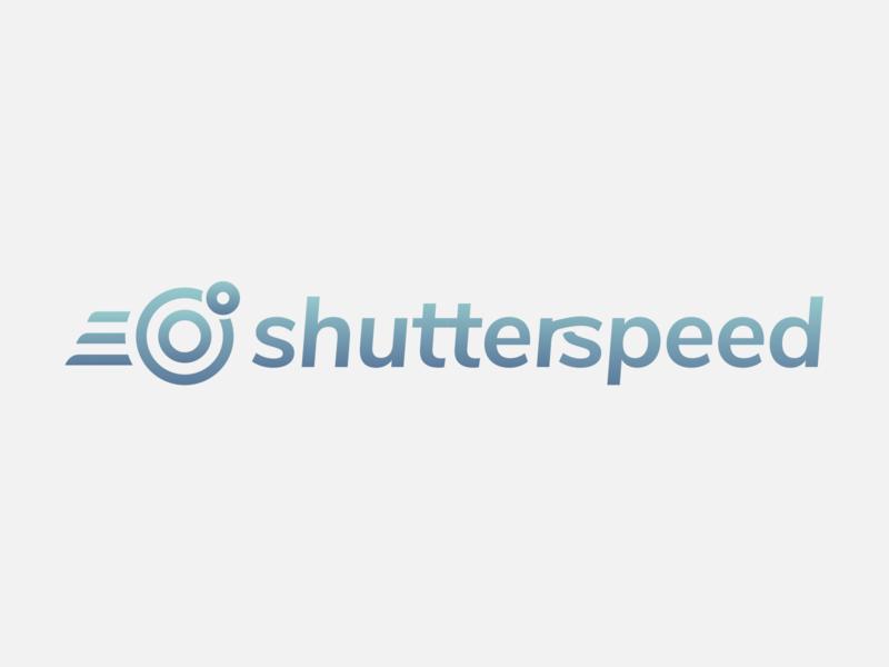 Shutterspeed logo type art lense camera logo