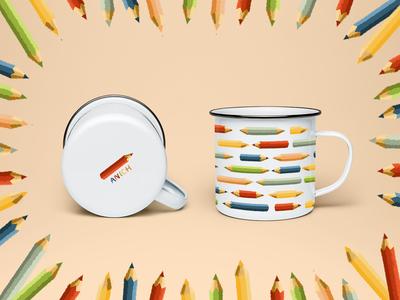 "Mug ""Pencil Pattern"""