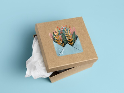 "Package design ""Flowers in the envelope"""