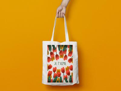 """Bag """"Print tulips"""""""