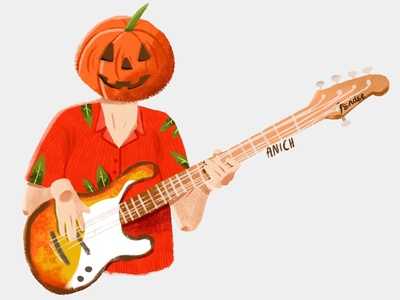 Pumpkin bass player