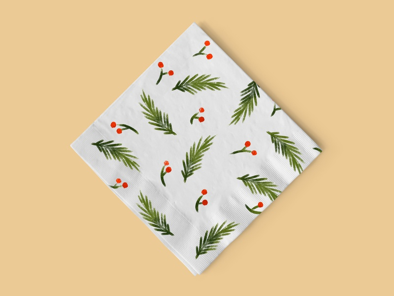 Napkin Design napkin design new year children illustration illustration