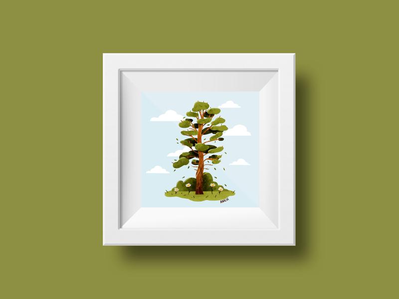 Tree children illustration illustration