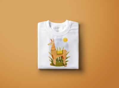 "T-shirt design ""Lama"""