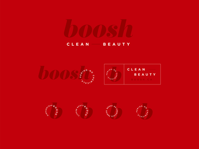 Boosh Logo cosmetic logo lipstick identity design designer logo system logo design logo identity design