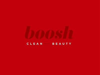 Boosh Logo minimal identity lipstick logo design typography identity branding graphic design identity design designer design cosmetic logo logo