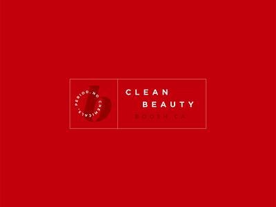 Boosh Beauty Logo identity branding graphic design lipstick logo logo design identity identity design designer design cosmetic logo