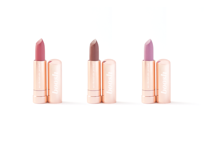 Boosh Clean Beauty - Lipstick Tube minimal designer graphic design cosmetic logo identity package design design branding packaging design lipstick tube packaging lipstick