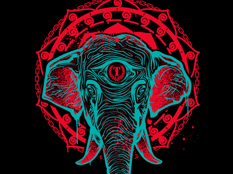 Mantra jiu jitsu tshirt sports boxing lifestyle mma muy thai streetwear illustration vector elephant