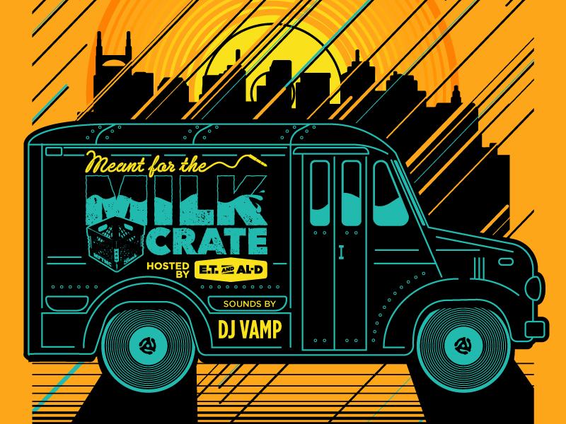 MFTMC POSTER ALT gigposter gig poster sunset nashville milk truck vector hip hop print poster