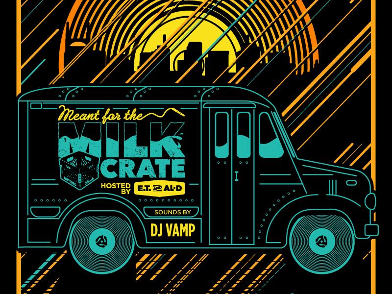 MFTMC POSTER gig poster record vinyl vector sunset milk crate milk truck nashville hip hop gigposter poster
