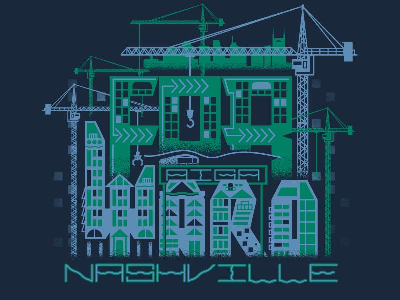 Forward construction architechture lettering custom type typography apparel graphic tshirt graphic tshirt illustration nashville