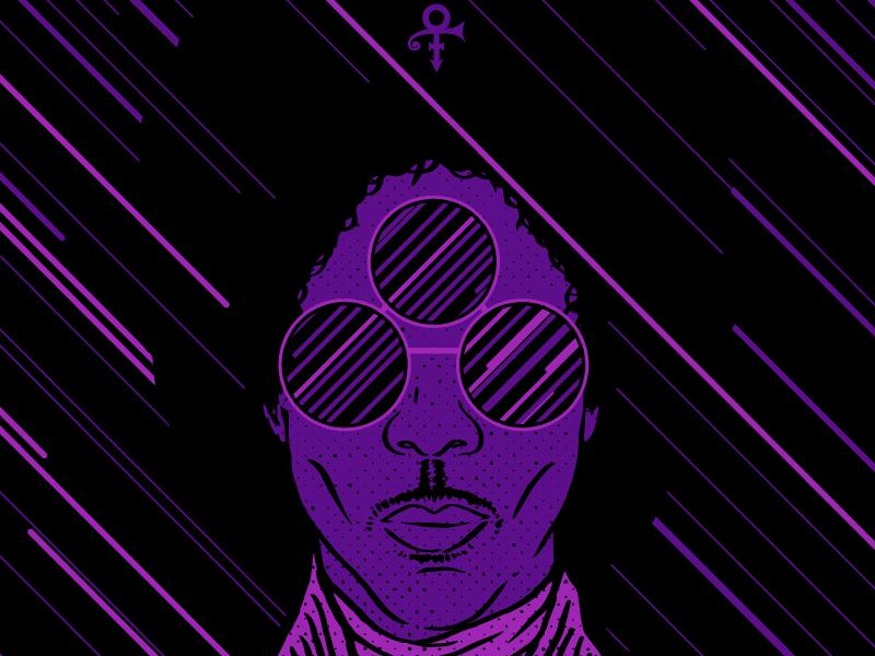 Purp prince rock star 3rd eye vector illustration portrait purple