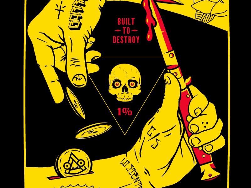 Sangre Para El Oro tattoos switchblade skateboarding skateboard skate skull illustration hands sangre blood money money blood