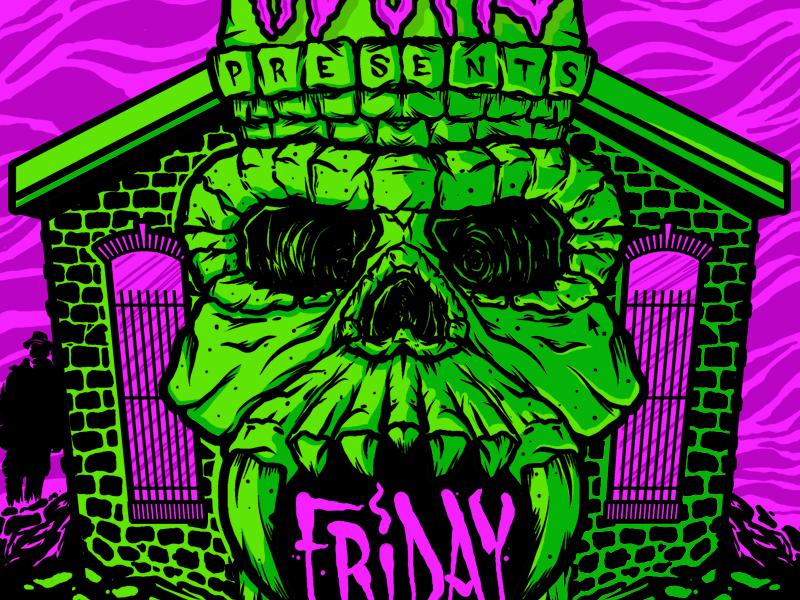 Church kdsml castle grayskull skull drawing illustration poster